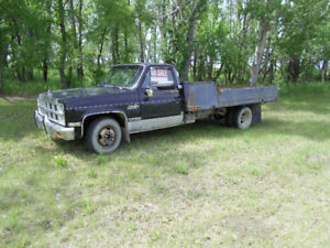1974/ 86 GMC/ Chev diesel one ton - 12 ft flat deck