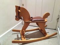 Beautiful wooden rocking horse