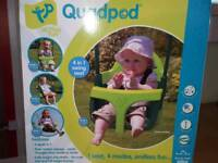 Quadpod swing seat