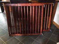 Lindam Wooden (No Step) Baby Gates x 3