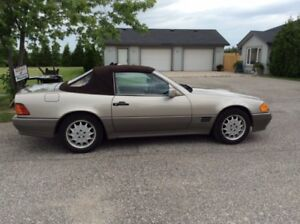 1992 MERCEDES-BENZ SL500 WITH HARD TOP