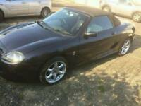 2003 MG TF convertible, metallic black - Manual, cloth trim, alloys etc