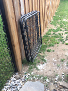 Chain link Gate 4ft Black (1 available)