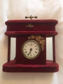 Victorian Bedroom Jewellery Box Boudoir Clock Working
