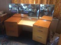 Stag Teak Dressing Table with Mirror