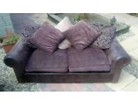 Sofa / settee 2 seater & 3 seater in brown