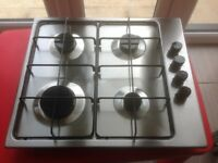 Electrolux Stainless Steel Gas hob with electronic ignition - 2 years old