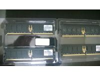 3gb geil black dragon red led ddr2 800 pc2 6400 cl 4-4-4-12 gb22gb6400c4dc gaming memory + 1gb
