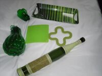 lime green kitchen ornaments