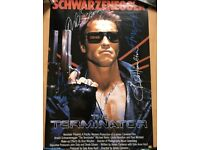 """The Terminator signed poster 27x40"""" one sheet autograph"""