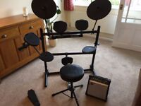 Alesis Dm5 Electronic Drum Kit + Amp and Stool