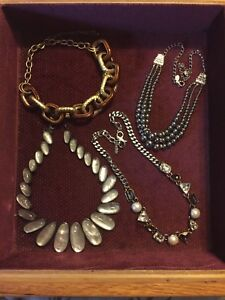 Various necklaces. Lia Sophia. Hardly or never worn.