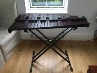 Xylophone - hardly used, with metal stands, mallets & carry case