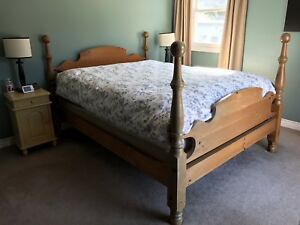 Solid Pine Queen Bed Frame