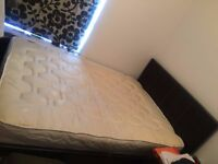 4ft6 Double bed frame plus matress for sale