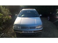 Volkswagen Golf S 1.4l Petrol, 5 doors, 2001, Silver, 1 Previous Owner, FSH from VW main agent
