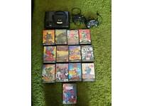 Sega mega drive with 13 games