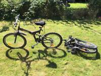 Pair of FOLDING Mountain bikes full suspension bike for sale  Hampshire