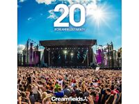 (1) 4Day Gold Campimg Creamfields Ticket urgently need to get rid of it, its an amazing festival!