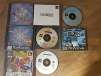Ps1 games (inc Alundra and final fantasy)