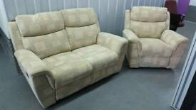 2 seater sofa with arm chair