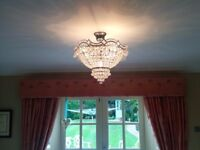 Ceiling Chandelier in Polished Chrome - 4 available