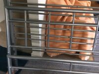 Metal double bed frame (no mattress)