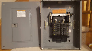 Electrical panel with SQUARE D breakers