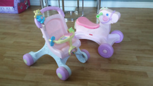 Cheval et trotteur Fisher Price