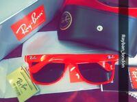 Best rayban wayfarer men's women's sunglasses aviator clubmaster red white leopard new box bag lots