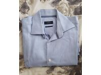 Next Men's Shirt in Pale Blue – collar size 16. Excellent Condition