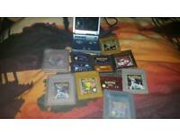 Nintendo Gameboy Sp console with Pokemon games and others