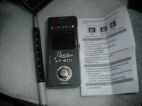 Rowin LT-901 true bypass guitar tuner pedal pitch mute black mini micro switch