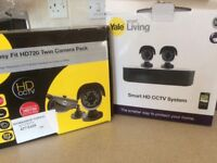 Yale cctv system and twin camera set