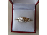 9CT GOLD & DIAMOND DRESS RING, INSURANCE VALUE £1600.00 (SN11)