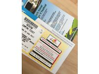 ** V festival full weekend camping ticket **