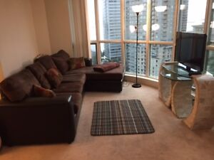 1 BEDROOM CONDO,FURNISHED,OCEAN VIEWS,COAL HARBOUR,DOWNTOWN,AUG1