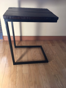 Wood & Metal Tray Table