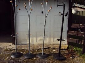 4 x Coat stands by ALBA