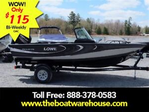 2017 Lowe Boats FS 1710 Merc 115HP Trailer Fish Finder Stereo