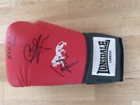 Signed Boxing Glove - Carl Froch, Johnny Nelson, Adam Smith