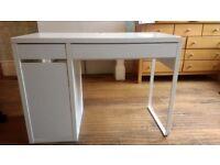 White 'Micke' IKEA desk, in good condition