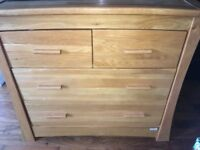 Mamas and Papas Ocean Solid Oak Dresser/Changer/Drawers
