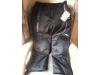 VIPER ROUTE MENS TEXTILE MOTOR CYCLE PANT WATER PROOF CE ARMOUR CORDURA RIDER TROUSER BLACK (XL/36)