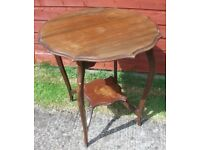 Early 20th Century Oval Piecrust Top Small Mahogany Table