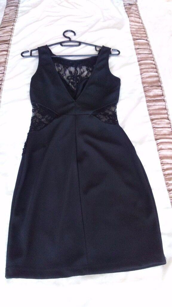 Black Lipsy Dressin Portglenone, County AntrimGumtree - Black Lipsy dress. Size 10. Lace panel detail and v back body con dress