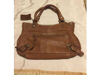Reduced....LADIES JONES TAN LEATHER HAND BAG