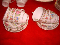 ROYAL STAFFORDSHIRE ROCHESTER BONE CHINA TEA SET 1950's