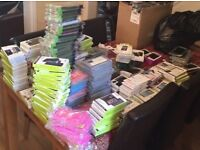 JOB LOT - BULK SALE - *320+ PHONE CASES & SCREEN PROTECTORS* - *STOCK CLEAR OUT*