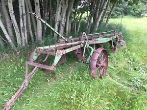 John Deere Plow and 3pt Hitch Cultivator